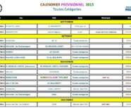 Calendrier Cyclo-cross - Saison 2015/16